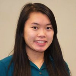 2014 scholarship winner Jennifer Chung in turquoise school uniform