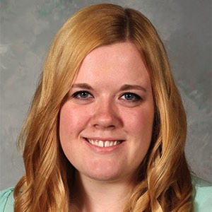 Headshot of 2013 scholarship winner Meredith Klett, she has blonde hair
