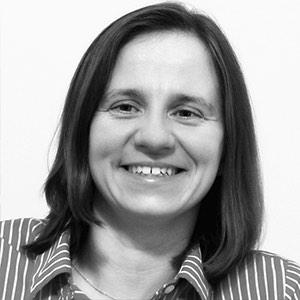 Black and white headshot of 2013 scholarship winner Olga Agafonova
