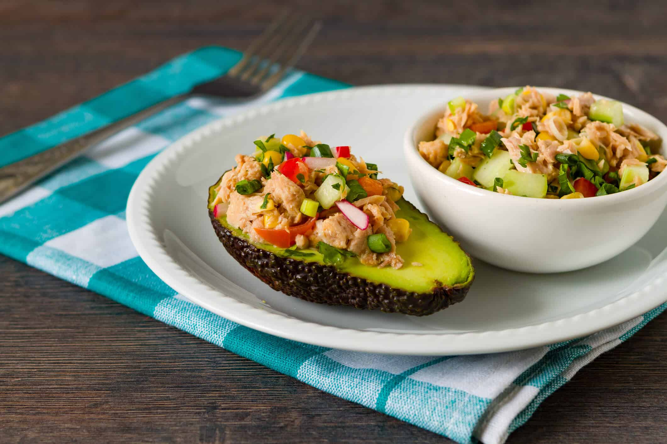 Curried Chicken Salad Stuffed Avocado