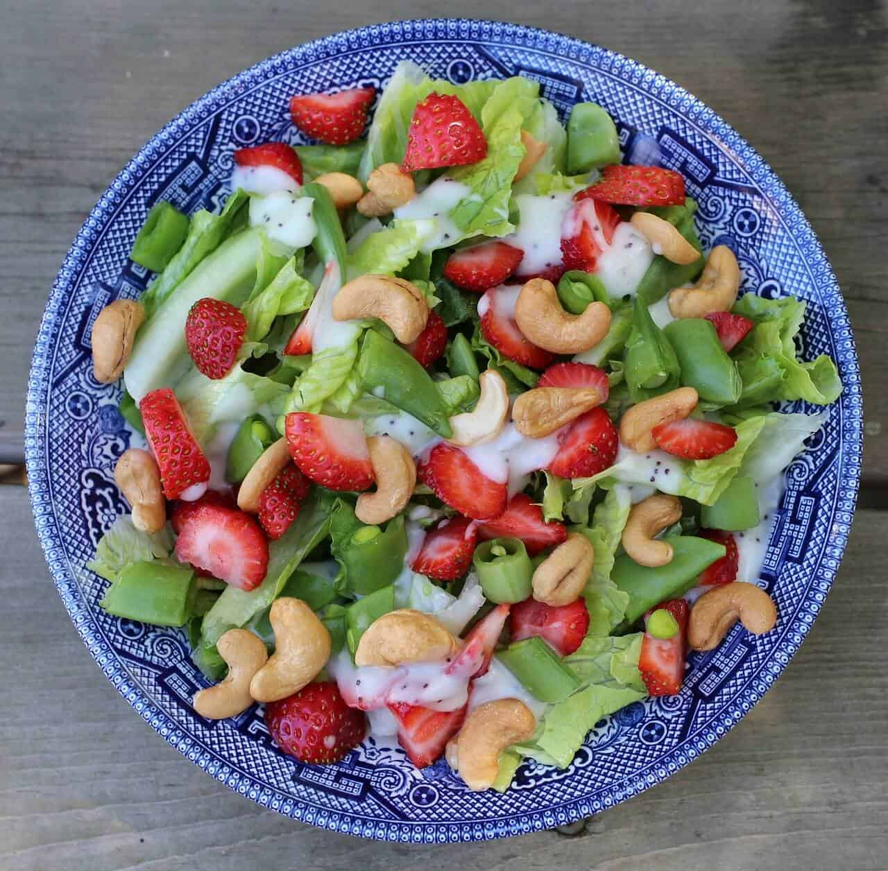 Strawberry Chicken Poppy Seed Salad