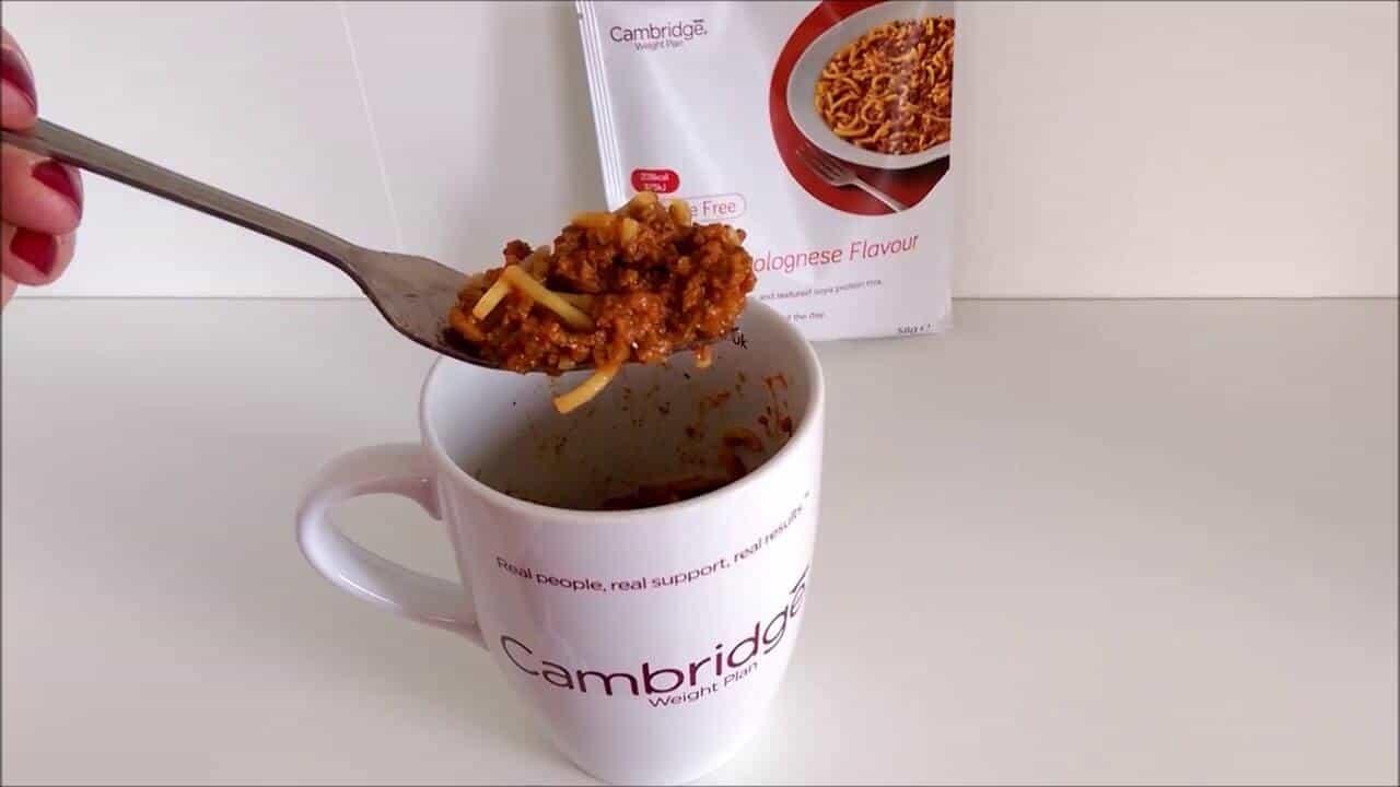 cambridge diet pasta