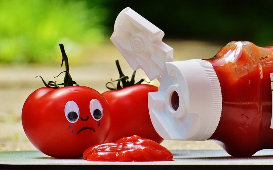 Cutting calories - ketchup is full of sugar.