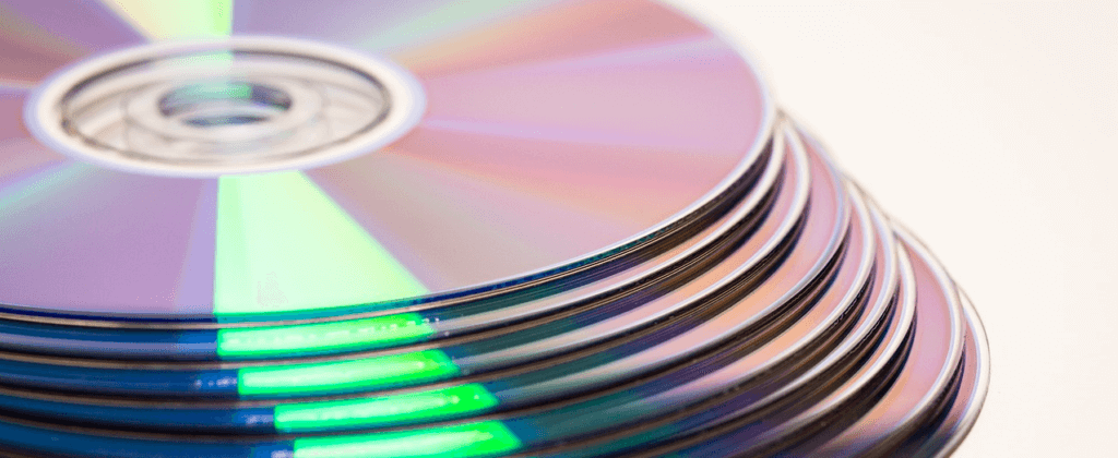 stack of dvds with no labels