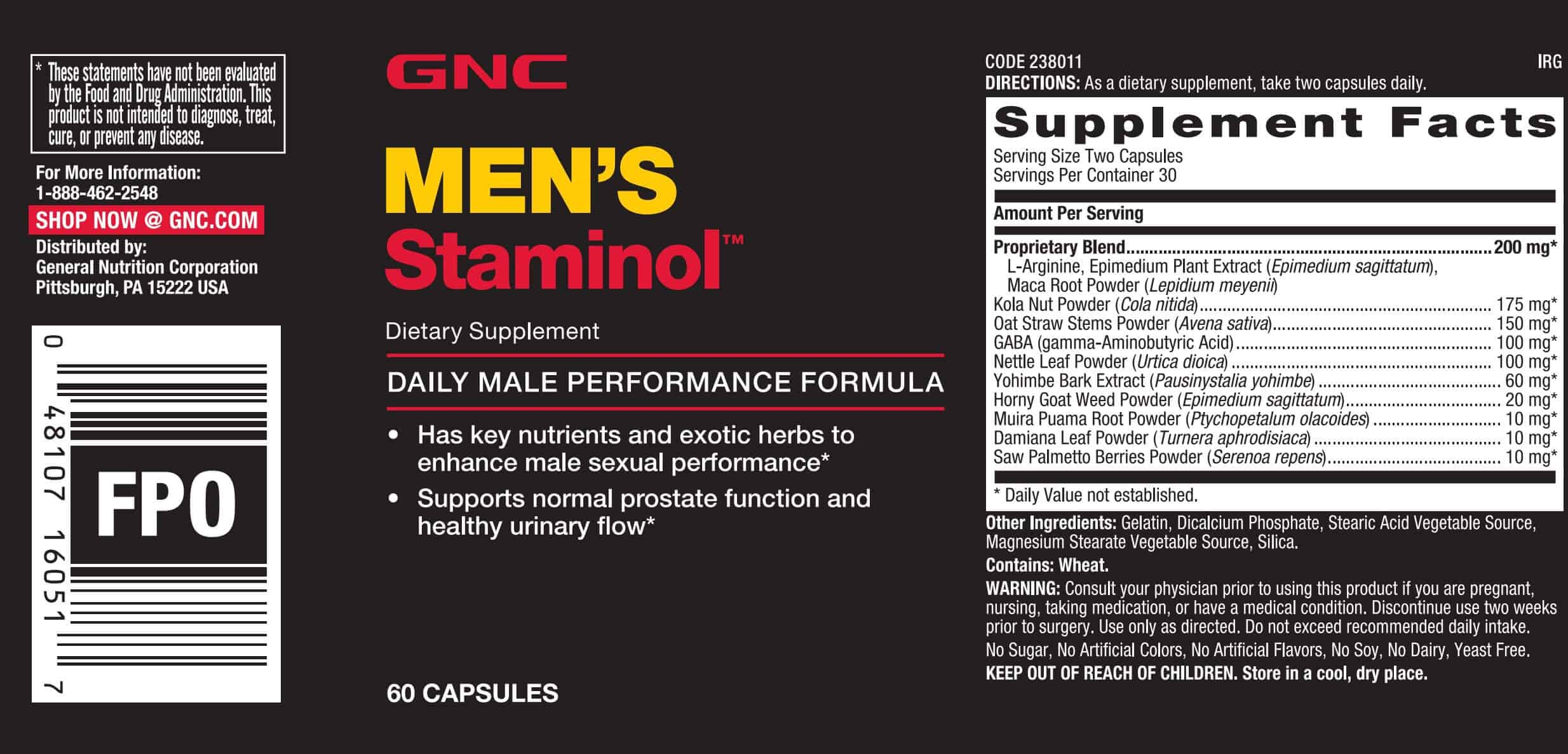 Amazoncom GNC LArginine 500 MG Health amp Personal Care