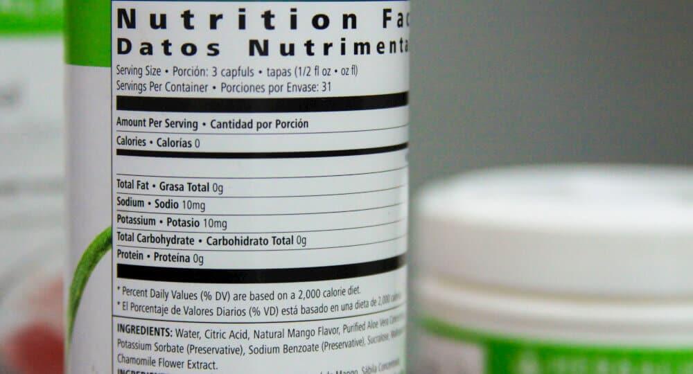 Herbalife Ingredients