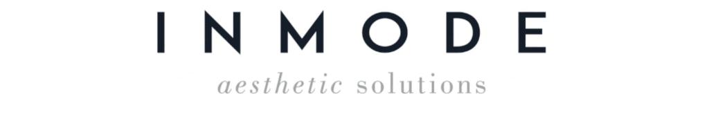 """Black lettering that reads """"In mode"""" alongside gray lettering that reads """"aesthetic solutions"""""""