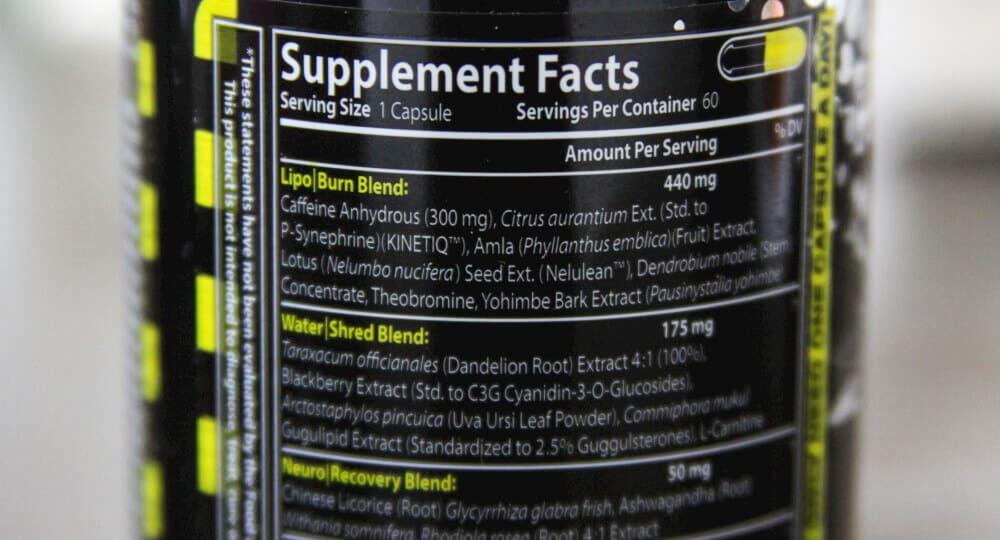LipoRush Ingredients