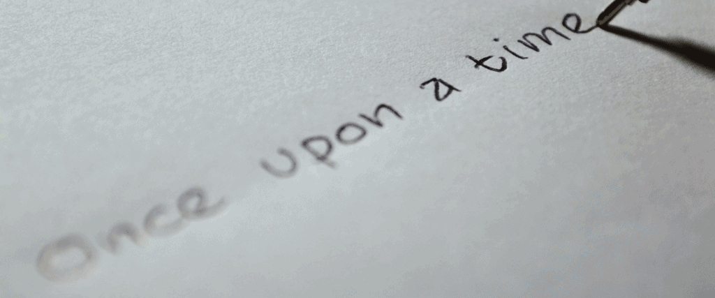 modere sustain beginning - white paper with words once upon a time handwritten in ink