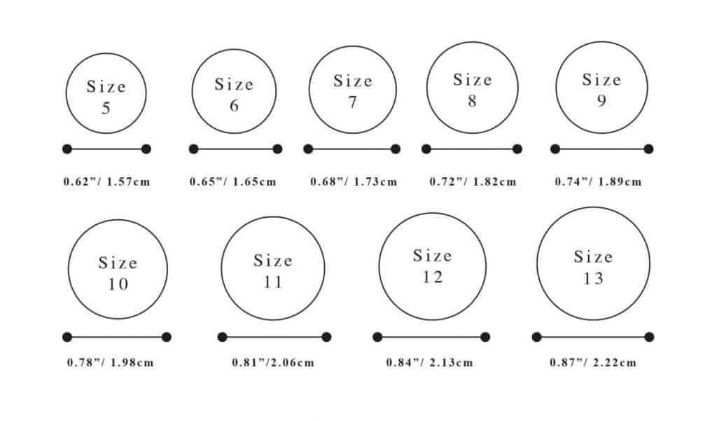 motiv ring sizes