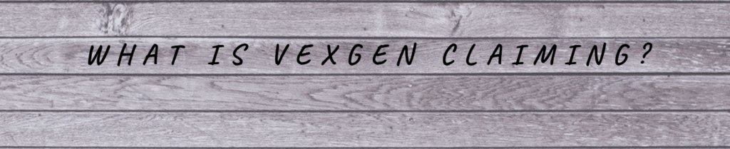 grey wood with words what is vexgen claiming on top